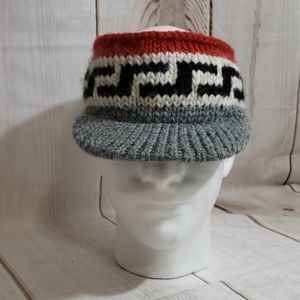 Vintage Bula Topless Knitted Brimmed Hat Sz L